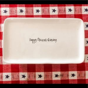 "Small Rae Dunn ""Happy Friendsgiving"" Platter"